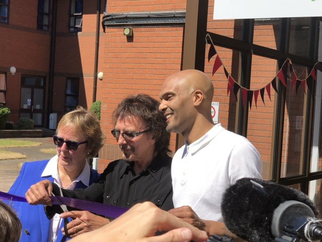 Super Eagles goalkeeper, Carl Ikeme makes first public appearance after battle with cancer (Photos)
