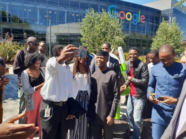 VP Yemi Osinbajo visits Google headquarters in the US, received by Google CEO, Sundar Pichai (photos)