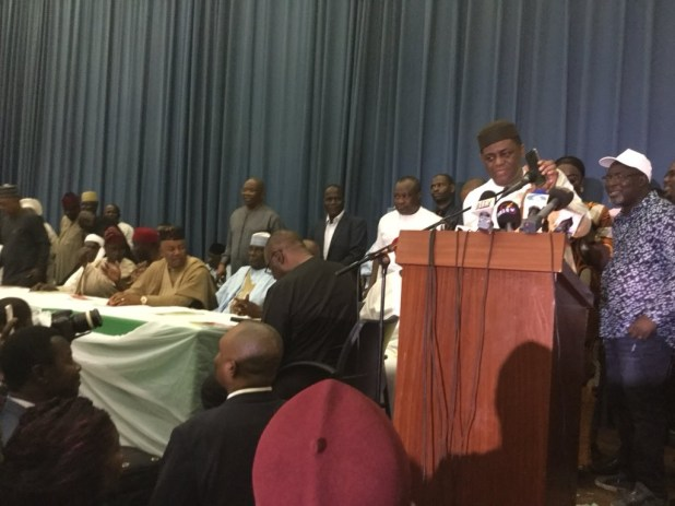 PDP, SDP,  R-APC, 36 other parties form alliance, to field a single presidential candidate in 2019