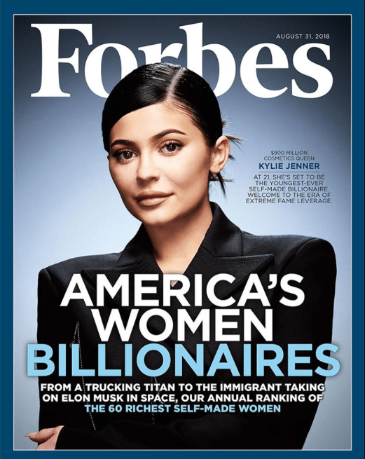Kylie Jenner covers the latest issue of Forbes as she