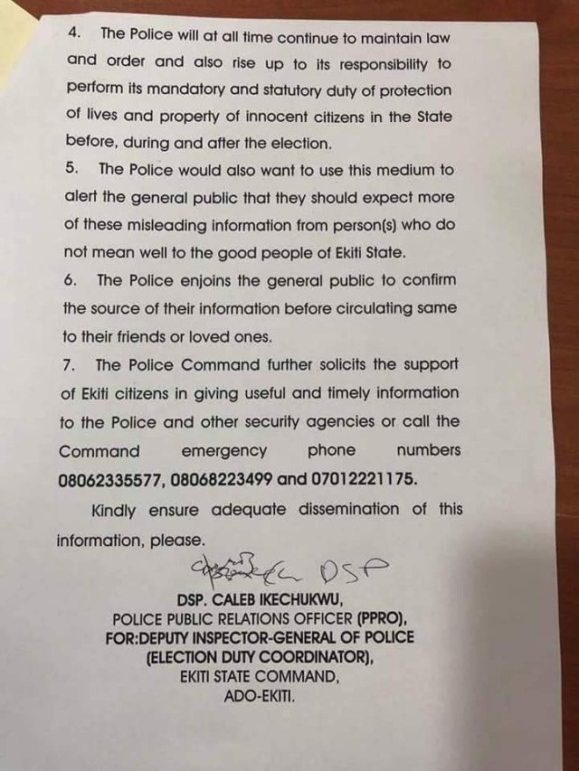 Police explains why its officers flooded the Ekiti government house yesterday