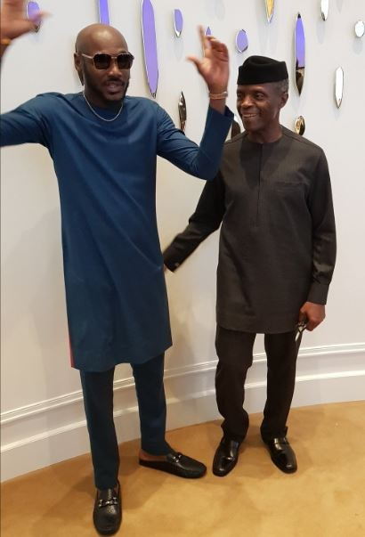 Photos:?2face Idibia accompanies?VP, Yemi Osinbajo to Hollywood
