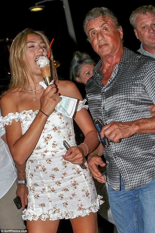 Actor Sylvester Stallone steps out in style with his beautiful daughters and wife during Saint Tropez vacation (Photos)
