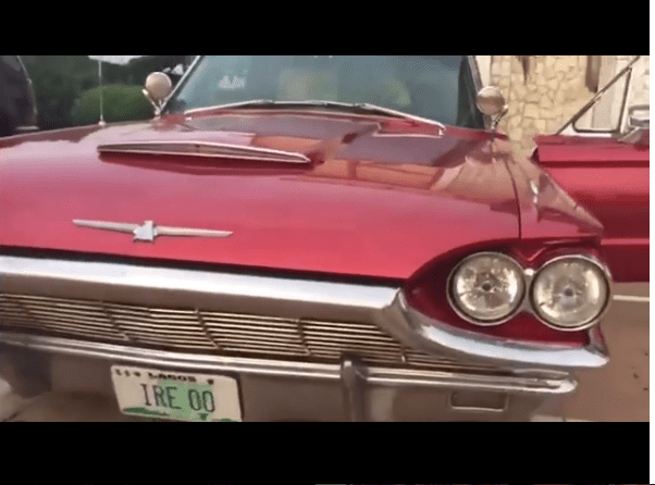 Kunle Afolayan shows off his new vintage whip