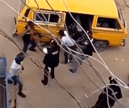 Disturbing video of SARS officers assaulting man in Lagos earlier today