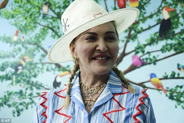 Madonna pictured with her 6 children as they visit Malawi to mark the 1st anniversary of Centre named after her adoptive daughter (Photos)