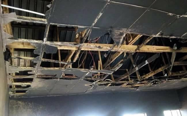 Photos: Hoodlums burn down two school renovated by Dino Melaye
