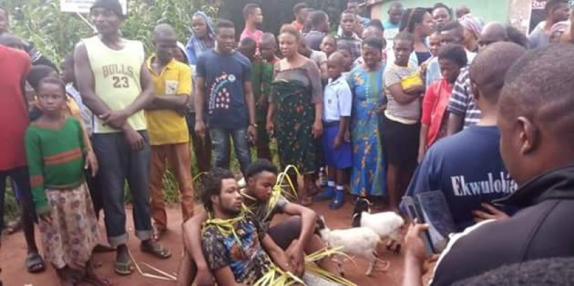 Two goat thieves nabbed and paraded around Anambra community