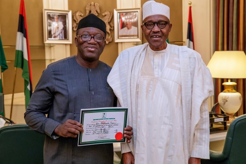 President Buhari receives Governor-Elect of Ekiti State, Kayode Fayemi in Abuja (Photos)