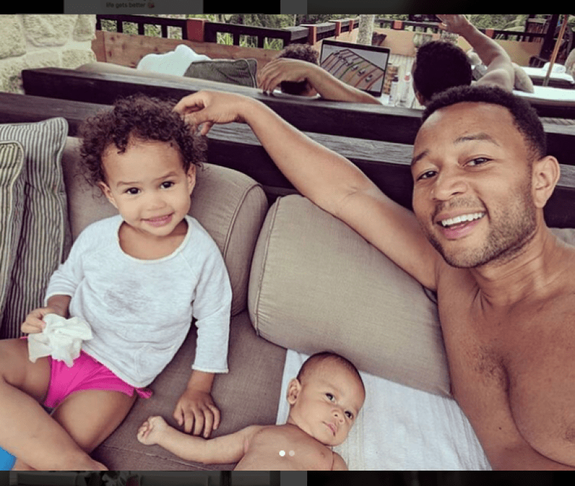 Daddy Duties: Singer John Legend spends quality good time with his children Luna and Miles (Photos)