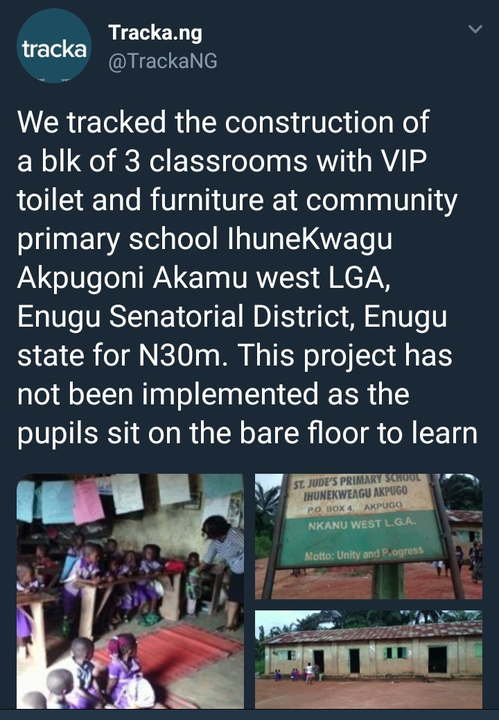 See the deplorable state of a school in Enugu despite the alleged allocation of N30million for construction of new classrooms