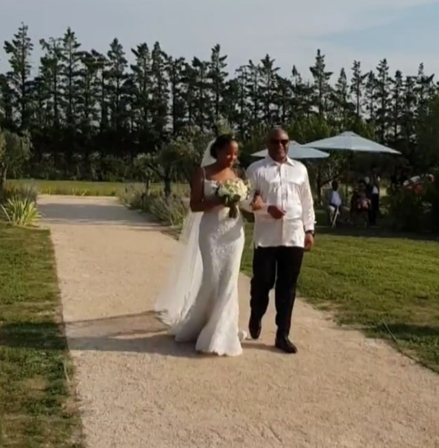 Photos: Billionaire daughter Mairama Indimi & her husband, Mustafa Masango host their white wedding in France