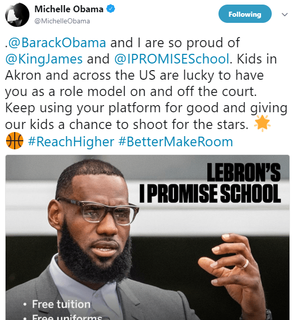 Lebron James receives praises after he builds school that is completely free in his hometown