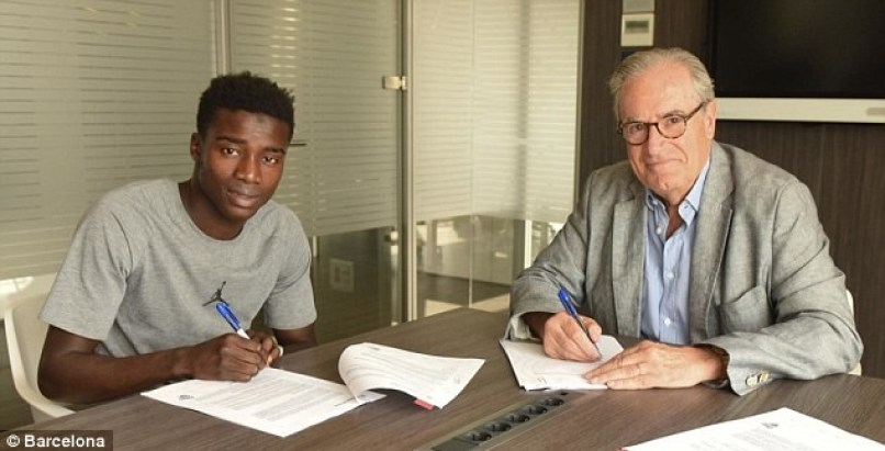 Barcelona sign Senegal star Moussa Wague for ?4.5million and insert a staggering ?90m release clause in his contract