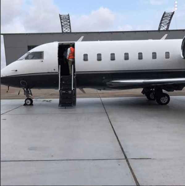 The private jet Davido claimed to have bought has landed in Nigeria (photos)