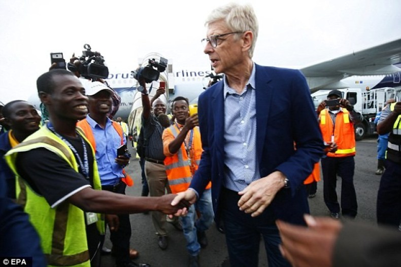 Arsene Wenger arrives in Liberia to receive special award from president George Weah  (Photos)