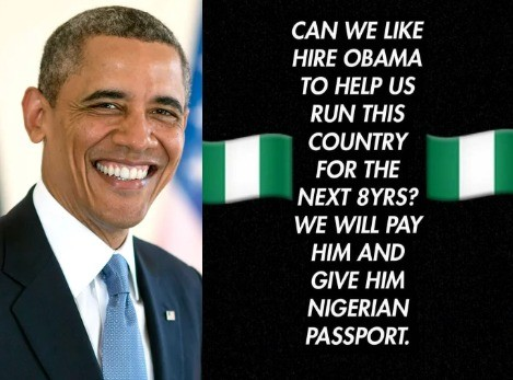 Omotola, Paul Okoye, Monalisa Chinda, support the idea of hiring Barack Obama to come rule Nigeria for the next eight years