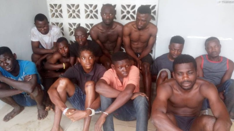 Cultists chase new recruit to his home and attack his entire family and neighbors after he ran off (photos)