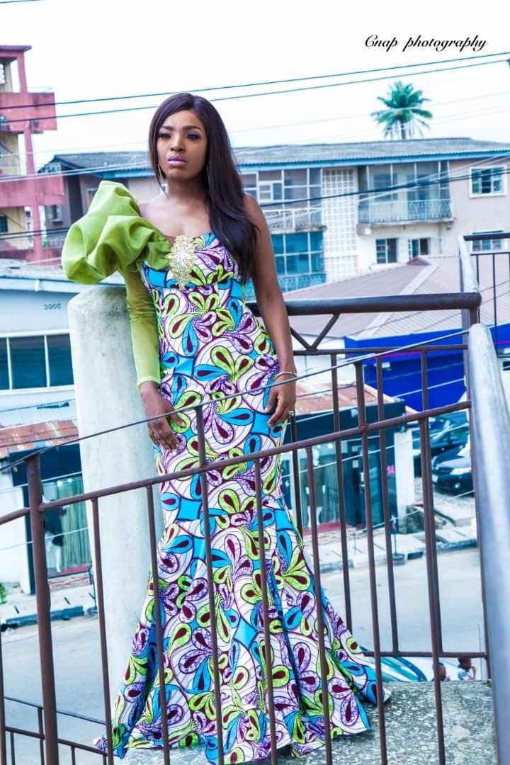 Stunning new photos of Annie Idibia rocking Ankara fabric
