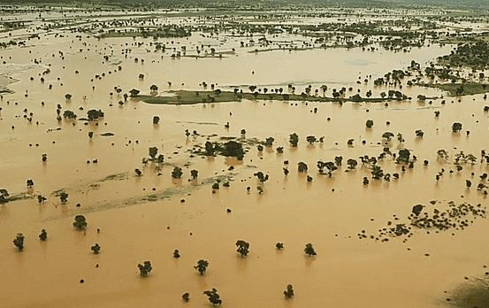 Over 100 communities in Niger State have been submerged as River Niger overflows (Photos)