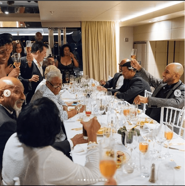 ?Alicia Key and Swizz Beatz lock lips together as they celebrate his 40th birthday inside a luxury yacht ( Photos)