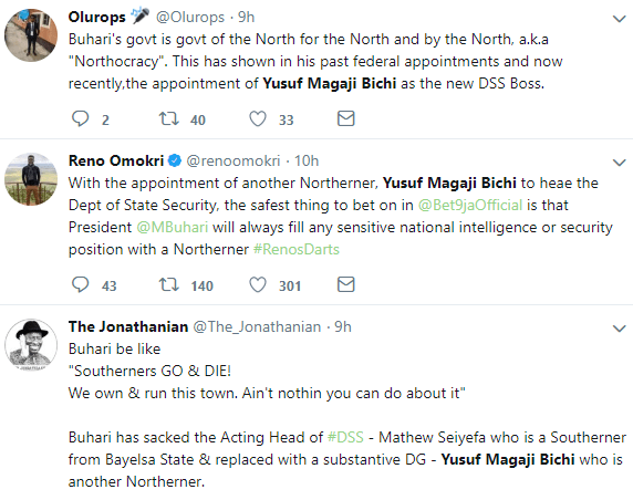 Nigerians react to appointment of Yusuf Bichi as new DG of DSS
