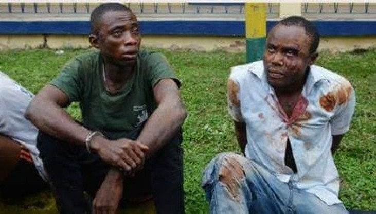 Photo: Two men arrested for allegedly kidnapping a corpse from Mortuary in Imo State
