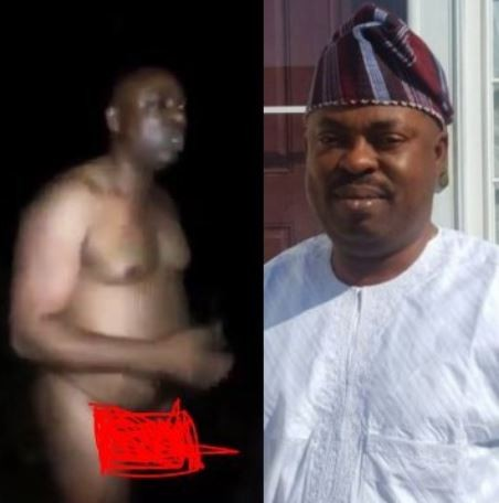 Video:?Osun state House of Assembly Majority Leader,?Timothy Owoeye allegedly caught bathing in the market