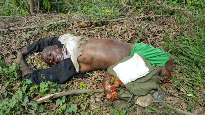 Graphic: Train crushes police officer, motorcyclist to death in Lagos