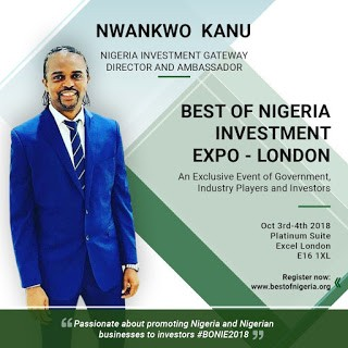 Best of Nigeria Investment Expo to be held at Excel, London on 3rd & 4th Oct 2018