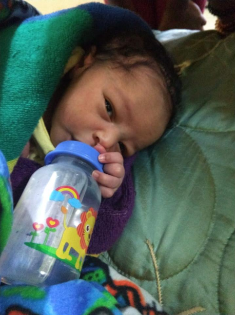Child found abandoned in church bathroom (photos)