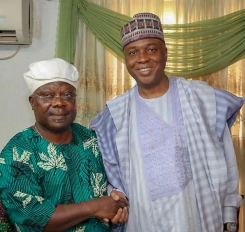 Breaking: Bukola Saraki shares photos with Omisore, says