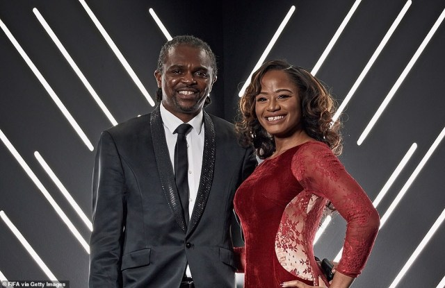 Lovely photo of football legend, Kanu Nwankwo and wife, Amara at FIFA The Best Awards in London?