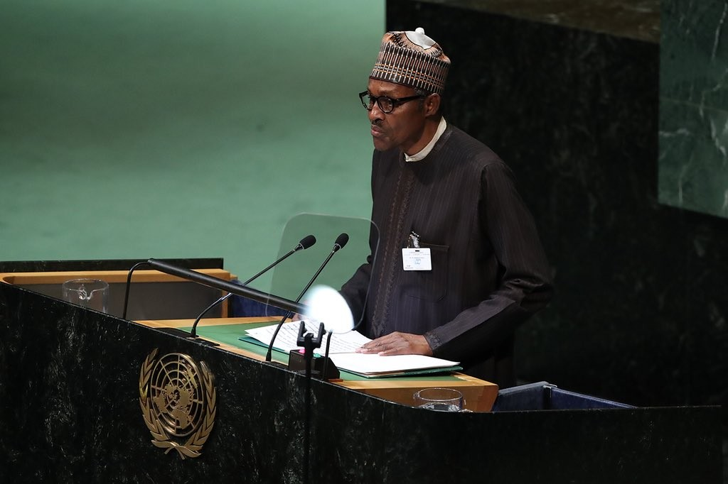 Photos: President Buhari speaks at UN General Assembly, lauds Nelson Mandela?s virtues and condemns xenophobia
