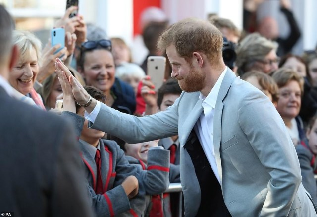 Prince Harry and Meghan Markle  land in Chichester by helicopter to take the first tour of their dukedom, Sussex