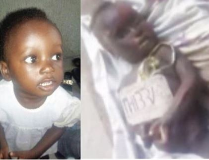 Photo: Mortuary attendants steal the eyes of a dead 18-month-old child in Port Harcourt