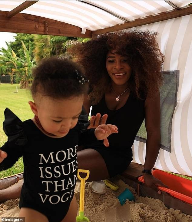 Serena Williams celebrates10 million Instagram followers with cute photo of one-year-old daughter Alexia?
