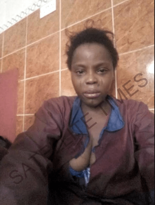 Nigerian lady who travelled to Saudi Arabia to work as a maid fakes madness to escape from her boss