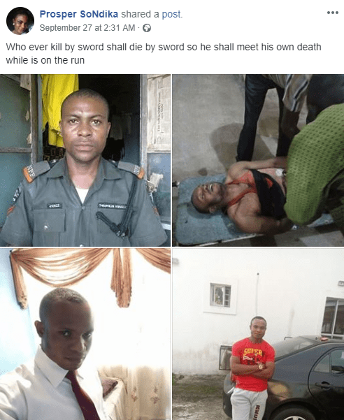 Policeman accused of shooting colleague dead during Osun election; family seek justice (graphic photo)