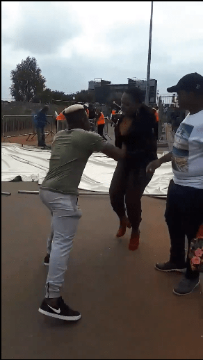 Man who suspected his girlfriend of cheating, humiliates her in public after seeing her with another man