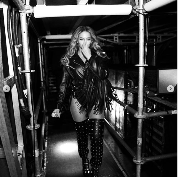 Beyonce shares stunning photos of herself in three different outfits