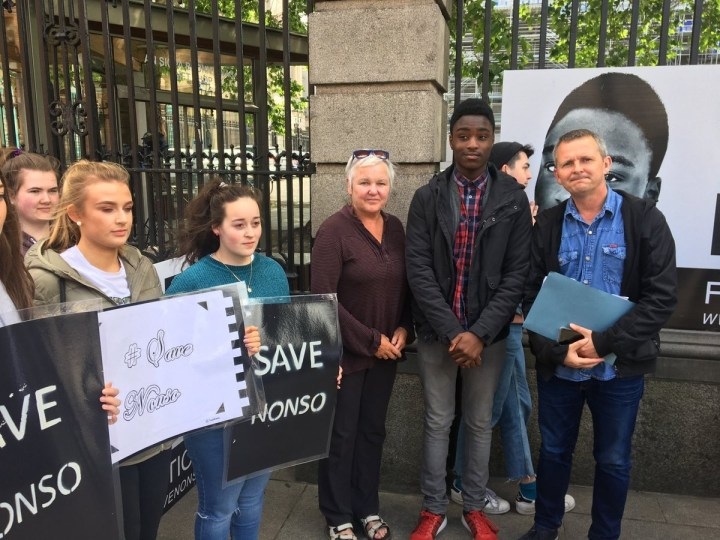 See the unthinkable effort classmates put together to stop a Nigerian boy, his brother and mother from Ireland