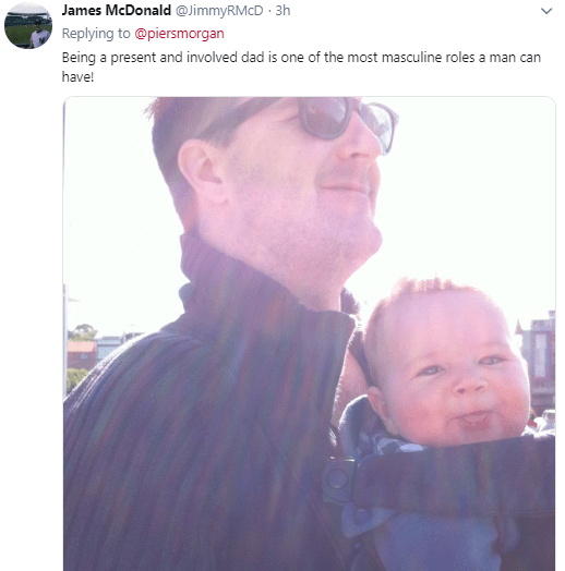 Fathers on Twitter blast Piers Morgan after he made fun of 007 actor, Daniel Craig and said he was less of a man for carrying his own child (screenshots)