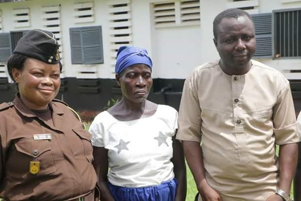 Photos: Mother and her two children released from 3 months jail sentence for