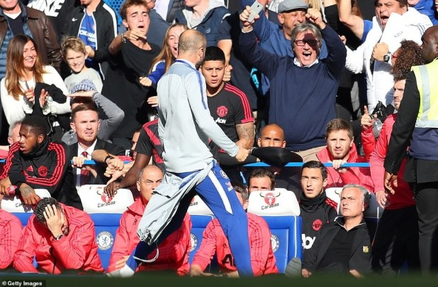 Jose Mourinho sparks fight after Chelsea coach Marco Ianni celebrates equaliser in front of him (Photos)