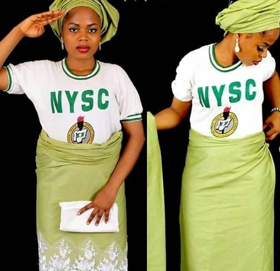 Check out what a Female corper did with her NYSC uniform