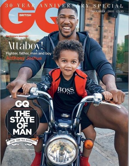 Anthony Joshua and his son, JJ are all shades of cute as they cover the December edition of?GQ Magazine (Photos)