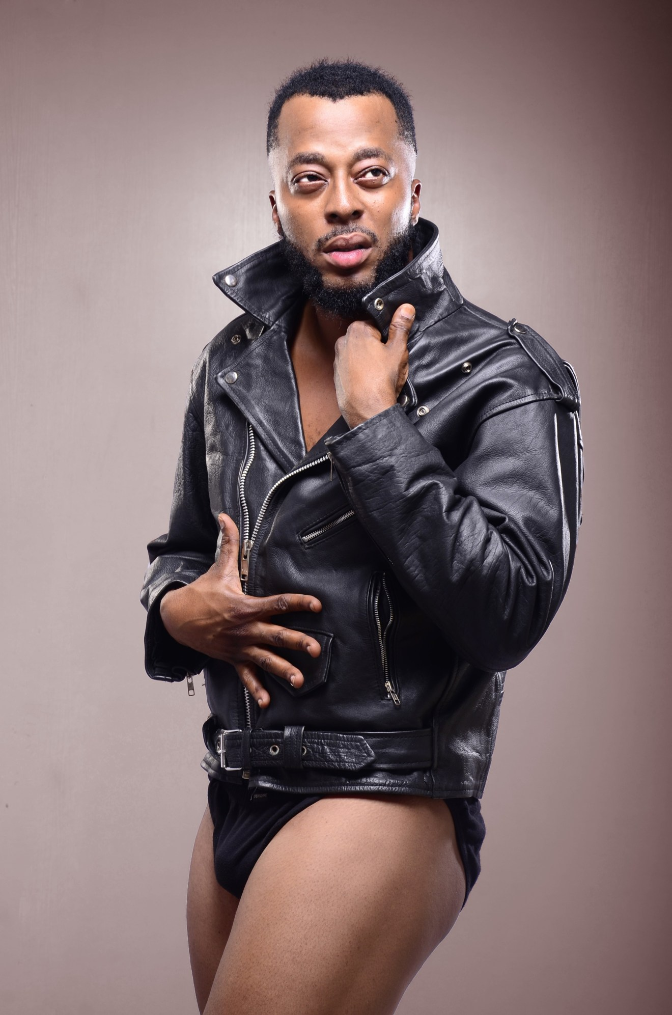 Nollywood Actor Benson Okonkwo shares semi-nude photos