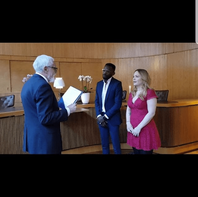 Singer May D marries his Swedish partner Carolina Wassmuth in Sweden (Photos)