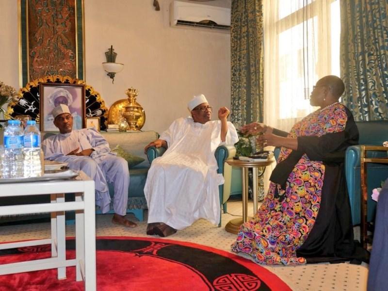 2019: Oby Ezekwesili meets ex-military leader Ibrahim Babangida in Minna (photos)